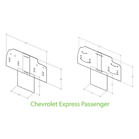 Chevrolet passenger van sneeze guard