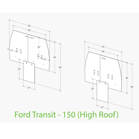 Ford Transit passenger van sneeze guard