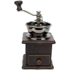 Manual Coffee Grinder Wooden Base - Kitchen Appliance