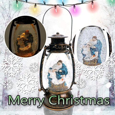 Jesus Christ Nativity Christmas Snow Globe - Christmas Decoration