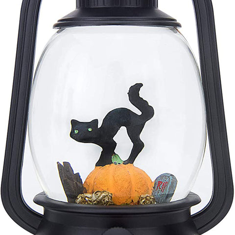Halloween Decoration - Cat On A Pumpkin Halloween Snow Globe