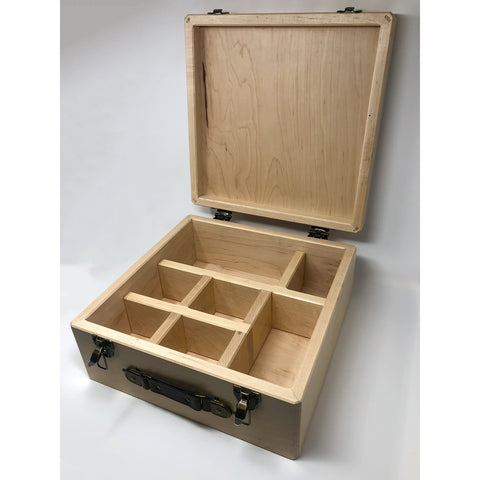 Handmade Solid Wood Cigar Humidor with Dehumidifier | Rock Glass Case