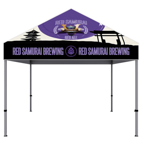 ONE CHOICE ® - 10 ft. Aluminum Canopy Tent Dye-Sub Graphic Package - Qlevo - Clever Living