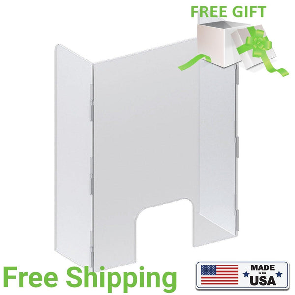 Acrylic Sneeze Guard & Transparent Partitions U-Shaped - Qlevo - Clever Living