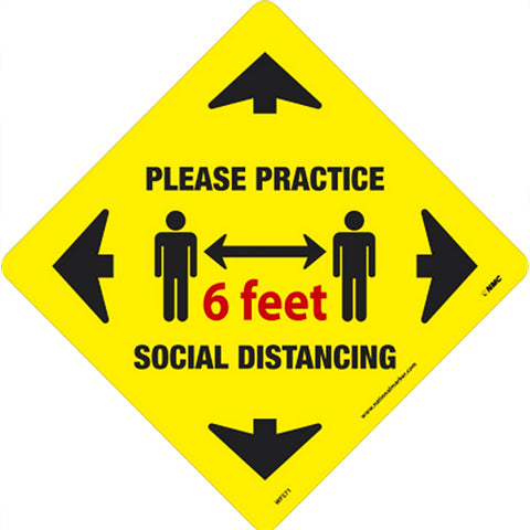 Social Distancing Walk On Floor Sign - Qlevo - Clever Living