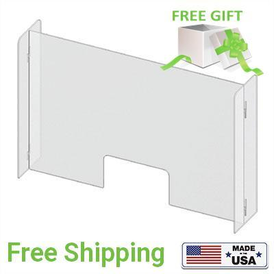 Acrylic Sneeze Guard & Transparent Partitions H-Shaped - Qlevo - Clever Living