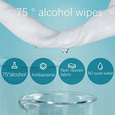Alcohol Wipes 10 packs, 100 pcs - Qlevo - Clever Living