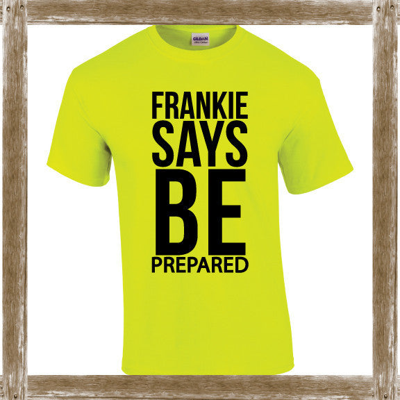 FRANKIE SAYS BE PREPARED 80's Colours Tee