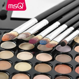 MSQ 6pcs pinceaux yeux poils synthétiques Brushes Set Professional Eye Brush Eye Shadow Blending Make Up Brush Soft Synthetic Hair