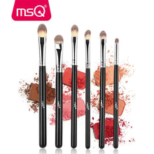 Charger l'image dans la galerie, MSQ 6pcs pinceaux yeux poils synthétiques Brushes Set Professional Eye Brush Eye Shadow Blending Make Up Brush Soft Synthetic Hair