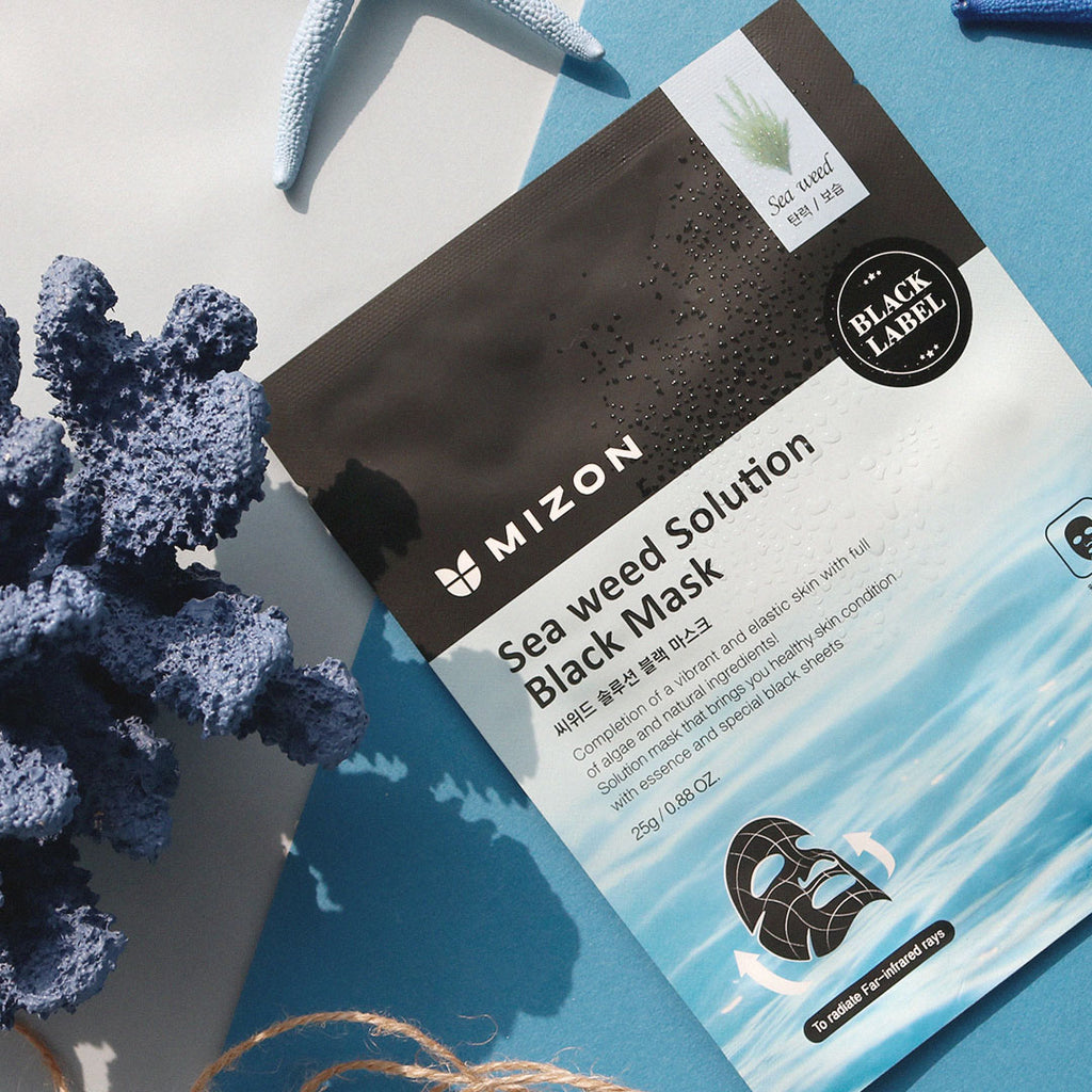 Mizon BLACK LABEL SEAWEED SOLUTION MASK L'Amour Beauty Korean Skincare Canada