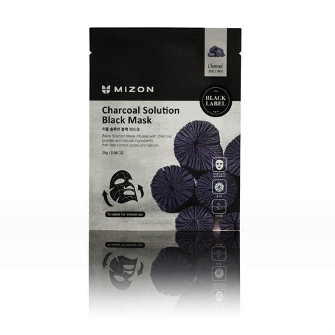 Mizon BLACK LABEL CHARCOAL SOLUTION MASK L'Amour Beauty Korean Skincare Canada