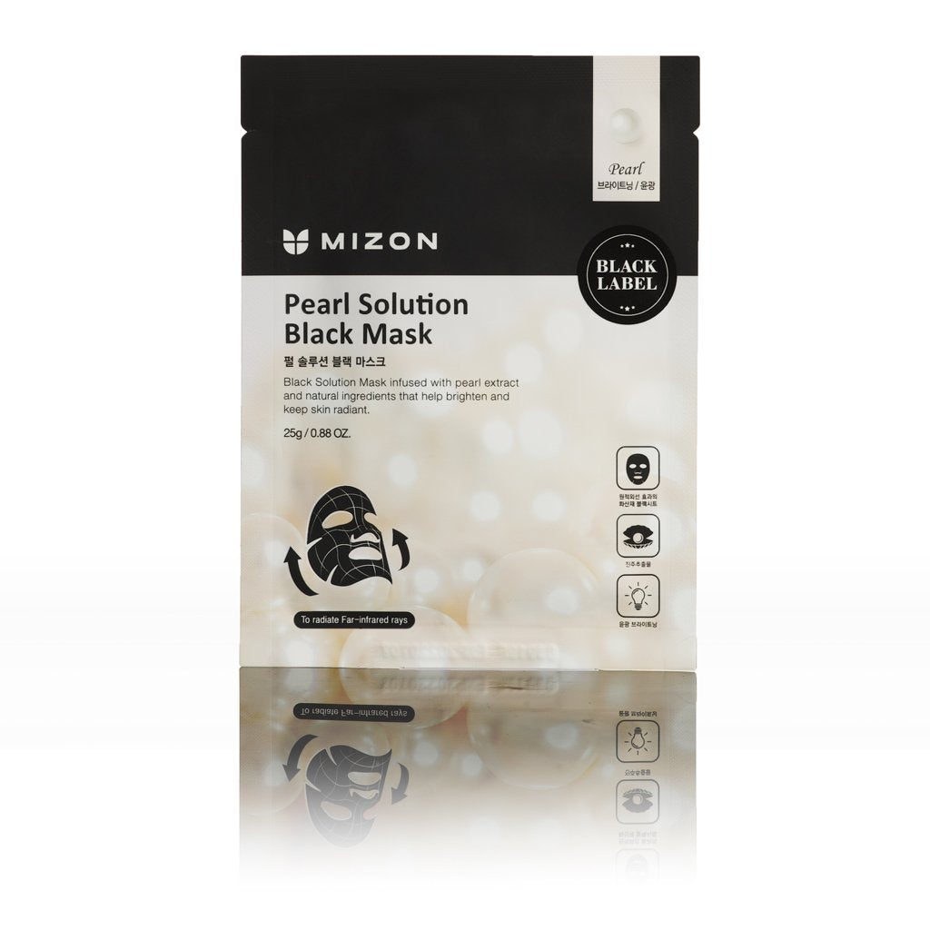 Mizon BLACK LABEL PEARL SOLUTION MASK L'Amour Beauty Korean Skincare Canada