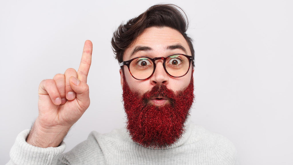 Bearded Man with Information about beards
