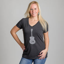 Load image into Gallery viewer, Nashville Guitar V-Neck Tee