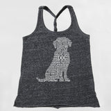 Dog Graphic Twist Back Tank Top