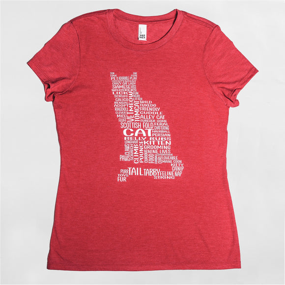 Cat Women's Graphic Crew Neck Tee