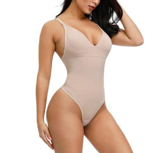 Thong Bodysuit in Beige