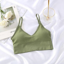 Load image into Gallery viewer, Everyday crop top slim coquette shapewear store green bra