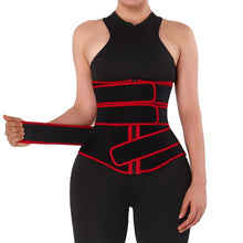 Load image into Gallery viewer, Neoprene Slimming Corset in Black and Red