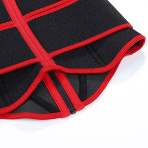 Neoprene Slimming Corset in Black and Red
