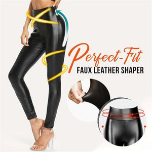 Faux Leather Leggings Shaper