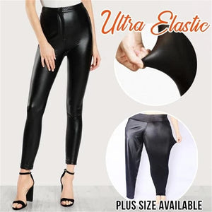 faux leather shaper leggings high waist perfect fit