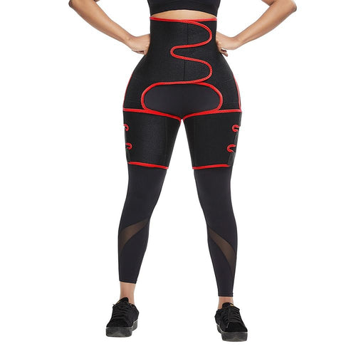 Neoprene Leg Shaper in black and red