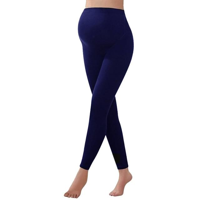 Deep blue warm pregnancy leggings from slim coquette shapewear online store