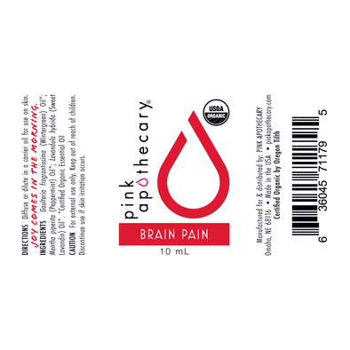 Brain Pain Essential Oil Synergy