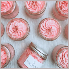 rose coconut whipped soap by Kaura India