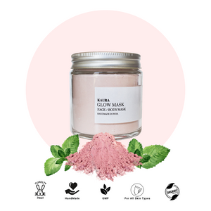 Glow skincare face mask with french pink clay & peppermint