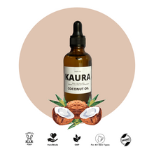 Load image into Gallery viewer, Kaura's extra virgin cocout oil is deep oil. It is natural and organic oil with coconut richness.