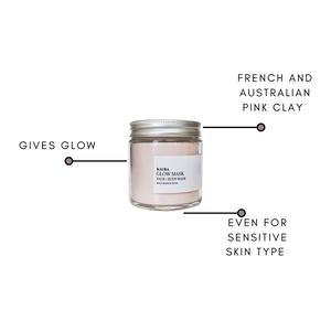 Glow face mask with french pink clay