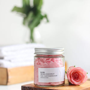 Rose Coconut Whipped Soap