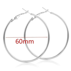 Big Smooth Circle Hoop Earrings