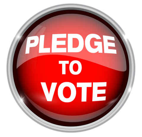 Pledge to Vote for Legalization Button off