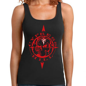 "Control Industry tank S Cypress Hill ""Skull & Compass"" Racer Back Women's Tank Top"