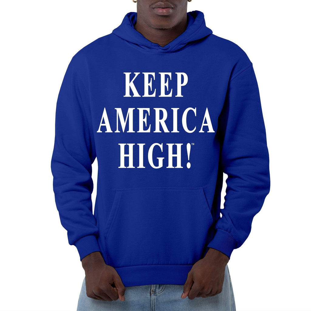 Keep America High Blue Pullover Hoodie