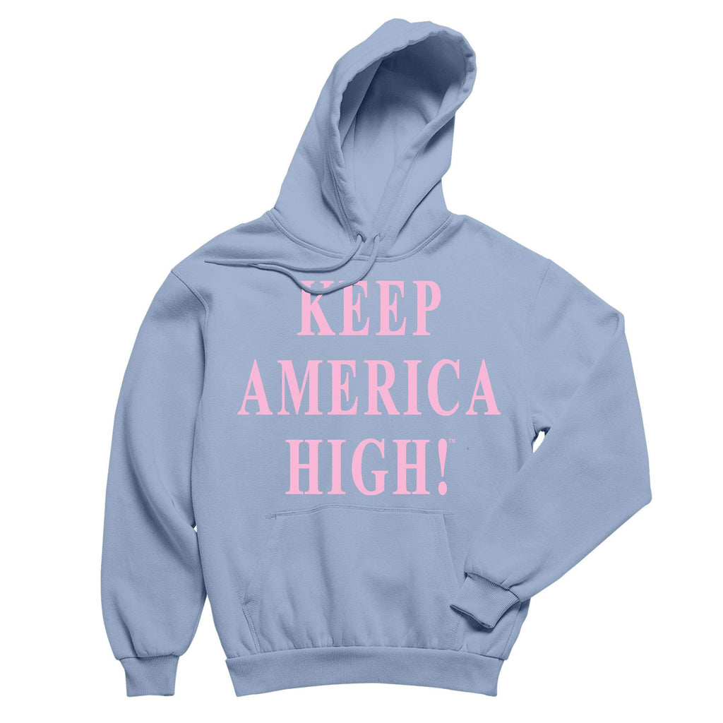 CustomCat hoodie Keep America High Light Blue Pullover Hoodie