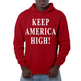 Keep America High Red Pullover Hoodie