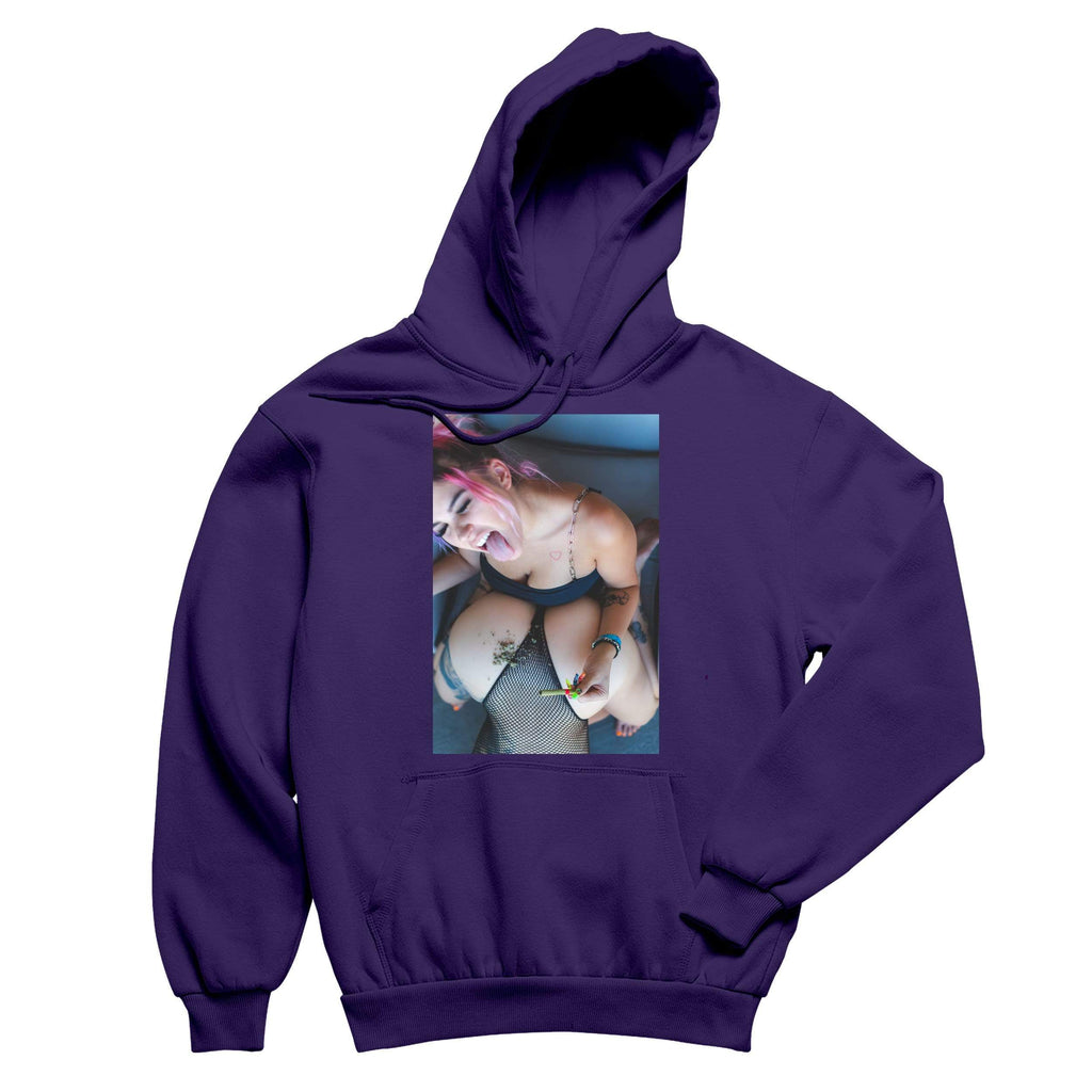 Medicated Marley Rolling It Up Purple Pullover Hoodie