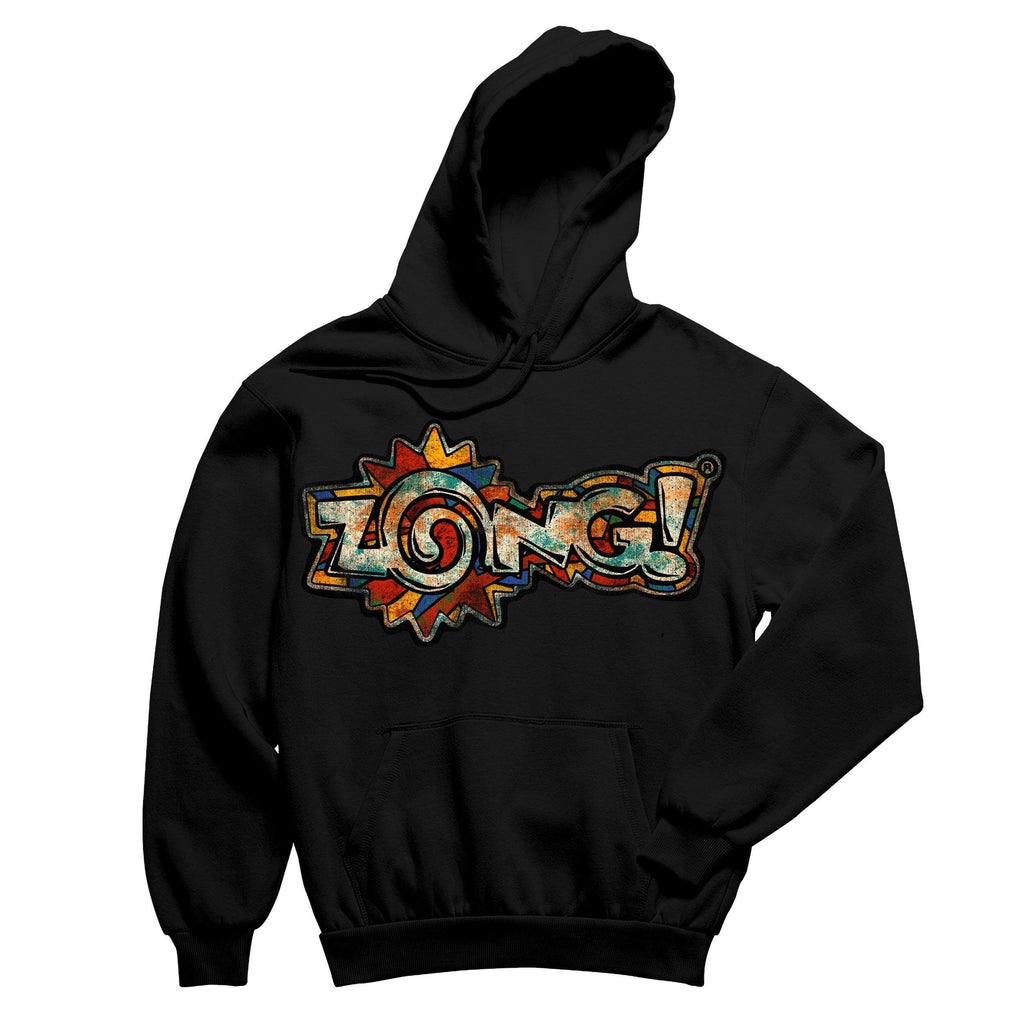 Zong Rusted Logo Black Pullover Hoodie