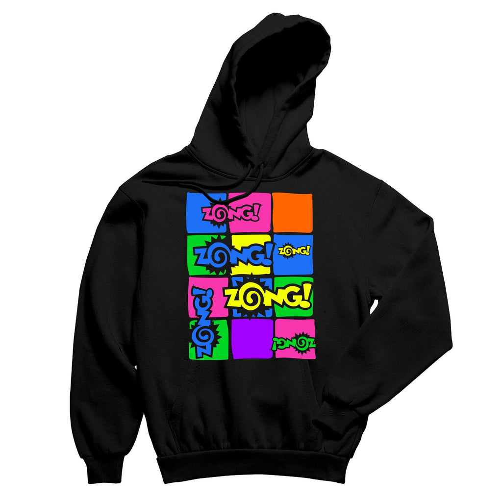 Zong Square Logo Black Pullover Hoodie