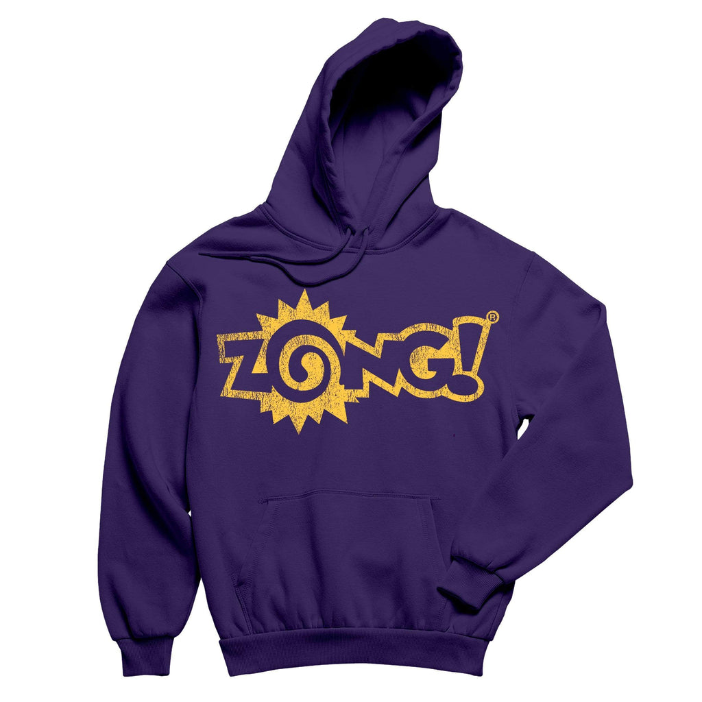 Zong Yellow Logo Purple Pullover Hoodie