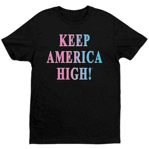 "CustomCat T-Shirts Black / S ""Keep America High Feel the Heat"" Crew Neck"