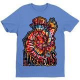 Harry Dabs Tie Dye Style Blue Style T-Shirt