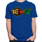 CustomCat T-Shirts Zong Rasta Logo Blue T-Shirt