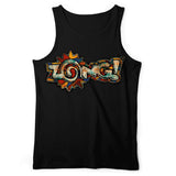 Zong Rusted Logo Black Tank Top