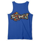 Zong Rusted Logo Blue Tank Top